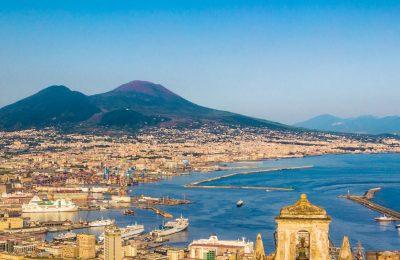 Naples with Mt. Vesuvius