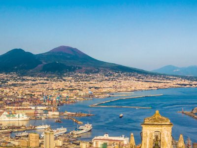 Naples with Mt. Vesuvius